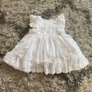 Baby GAP White Eyelet Ruffle Dress